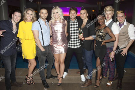 Stock Photo of Llandyll Gove (Gerard), Robyn Mellor (Libby), Alexis Gerred (Tunny), Amelia Lily Oliver (Whatshername), Steve Rushton (Will), Aaron Sidwell (Johnny), Raquel Jones (Extraordinary Girl), Luke Baker (Theo) and Lucas Rush (St Jimmy)
