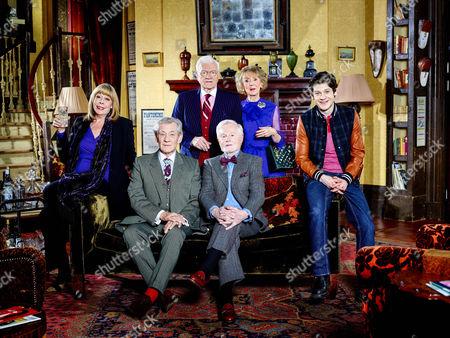 Stock Image of Violet [Frances de la Tour], Freddie [Ian McKellen], Mason [Philip Voss], Stuart [Derek Jacobi], Penelope [Marcia Warren] and Ash [Iwan Rheon]