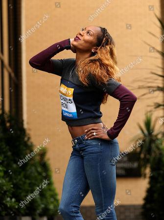 USA Sanya Richards-Ross poses ahead of the Sainbury's Anniversary Games