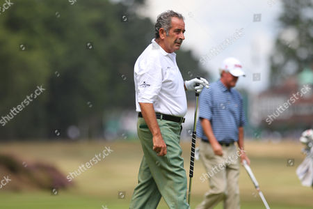 Stock Photo of Sam Torrance on the first green during The Senior Open Championship, Sunningdale Golf Club, Sunningdale