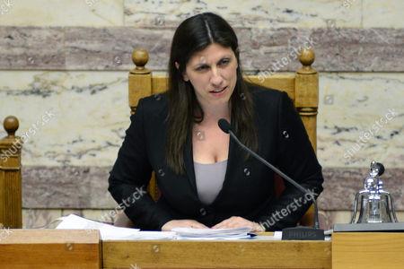 Zoe Konstantopoulou, Spokeswoman of the Greek Parliament