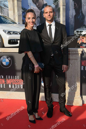 Stock Image of Maddalena Hirschal with husband Darius Kerschbaumer