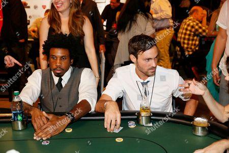 Nyambi Nyambi and Jeff Dye play poker