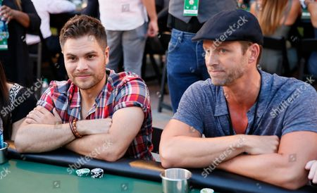 Erik Valdez and Eric Martsolf play poker