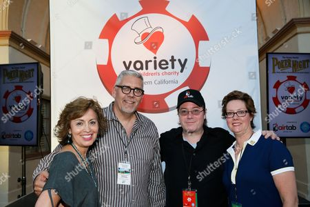 Patricia Gonzales, Paramount Pictures, Branden Miller, Board President, Variety of Southern California, Host Jamie Gold and Elizabeth O'Neil, Executive Director, Variety of Southern California