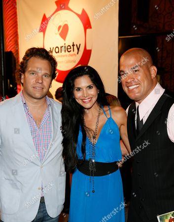 Producer Michael Ohoven, Joyce Giraud and Tito Ortiz