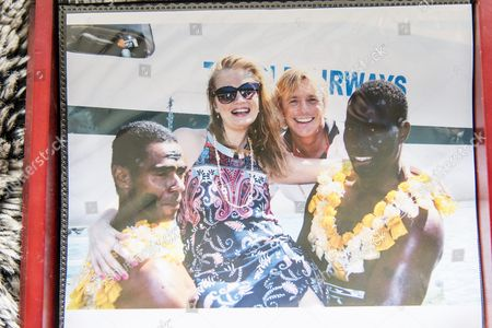 "Stock Picture of Christopher Atkins and Sandra Ankarbjörk in Fiji to commemorate the 35th anniversary of movie ""The Blue Lagoon"""