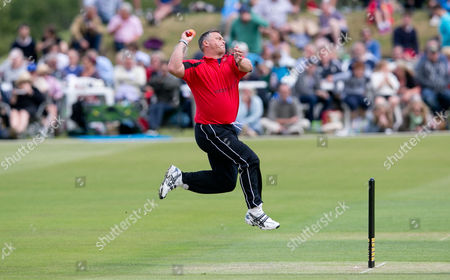 Stock Picture of Darren Gough bowls