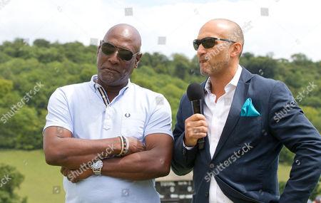 Viv Richards with Mark Butcher