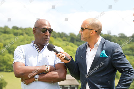 Stock Picture of Viv Richards with Mark Butcher