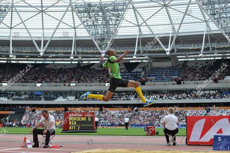 Editorial photo of Sainsbury's Anniversary Games, Queen Elizabeth II Olympic Park, London - 25 Jul 2015