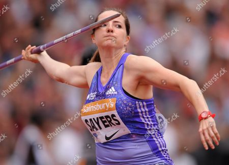 Goldie Sayers (GBR) during the Women's Javelin