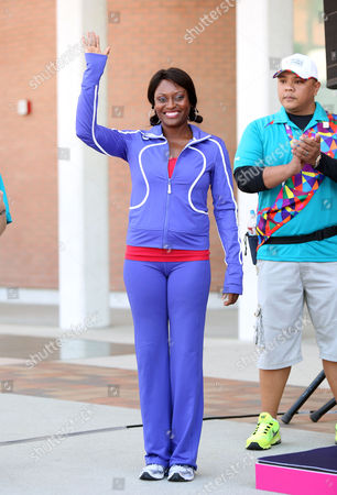 Editorial picture of Special Olympics Games, Track and Field Medal Ceremony, Los Angeles, America - 26 Jul 2015