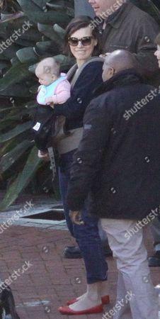 Milla Jovovich with daughter Dashiel Edan