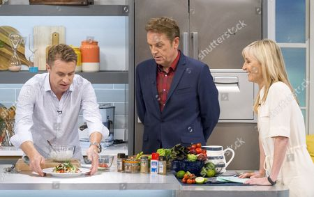 James Tanner, Fiona Phillips and Brian Conley
