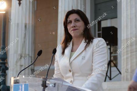Zoe Konstantopoulou, spokeswoman of the Hellenic Parliament