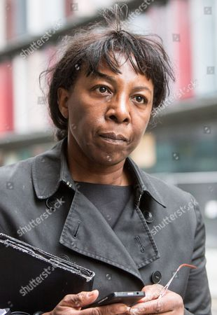 Former judge, Constance Briscoe arrives at the Old Bailey to give evidence under the contempt of court act
