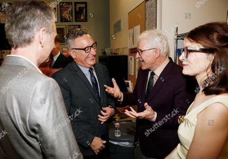 Stock Photo of Michael Ritchie, Moises Kaufman, Steve Martin and Anne Stringfield
