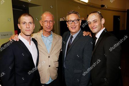 Patrick Heusinger, Martin Sherman, Moises Kaufman and Charlie Hofheimer