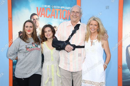 Chevy Chase, wife Jayni Chase and daughters