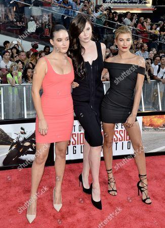 Alaia Baldwin, Ireland Baldwin and Hailey Baldwin
