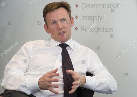 Editorial photo of Mark Horgan, Moneycorp Offices, Knightsbridge, Britian. - 06 May 2015