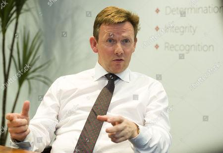 Editorial image of Mark Horgan, Moneycorp Offices, Knightsbridge, Britian. - 06 May 2015