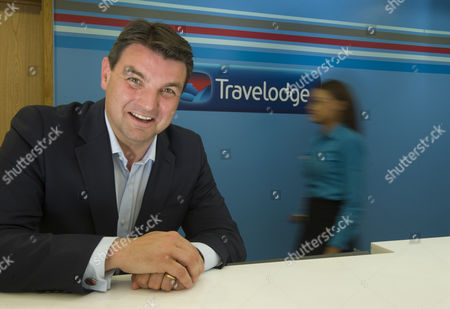 Stock Photo of Peter Gowers the chief executive of the Travelodge company
