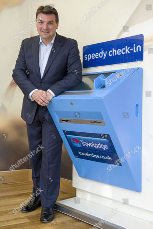 Stock Image of Peter Gowers the chief executive of the Travelodge company