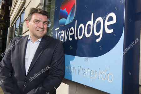 Stock Picture of Peter Gowers the chief executive of the Travelodge company