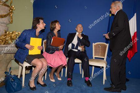 Stock Photo of Clotilde Valter, Marisol Touraine, Michel Sapin