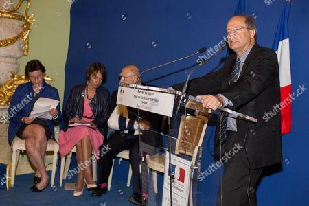 Stock Image of Clotilde Valter, Marisol Touraine, Michel Sapin
