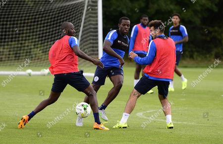 Nedum Onuoha of QPR with Samba Diakite and Michael Doughty