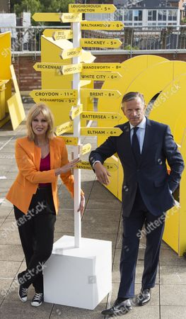 Joanna Lumley and Marc Bolland Marks & Spencer CEO