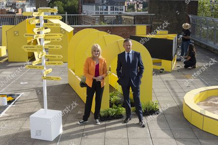 Stock Picture of Joanna Lumley and Marc Bolland Marks & Spencer CEO