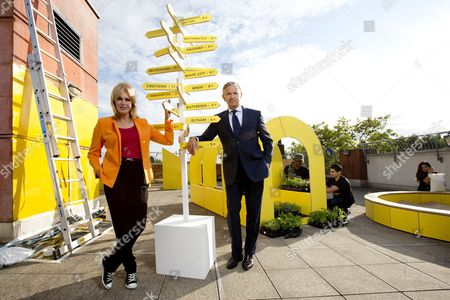 Joanna Lumley and Marc Bolland (M&S CEO) launch new M&S initiative, Spark Something Good, which aims to inspire the nation to donate time to their local communities