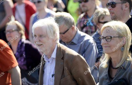 Stock Picture of Members of Parliament Erkki Tuomioja (SDP), Eva Biaudet (RKP) and Paavo Arhinmaki (Left Alliance)