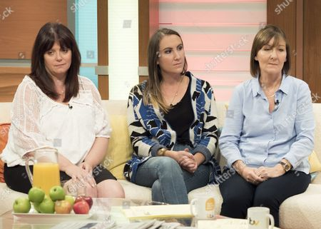 Stock Picture of Karen Waterton with her daughter Sarah and Ally Mitchell