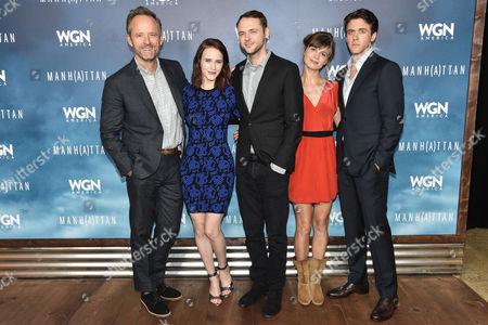 Stock Picture of John Benjamin Hickey, from left Rachel Brosnahan, Christopher Denham, Katja Herbers and Ashley Zukerman