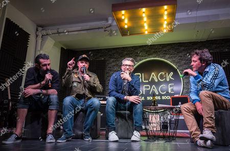 Scroobius Pip, Rufus Hound, Jamie East and Simon Jack