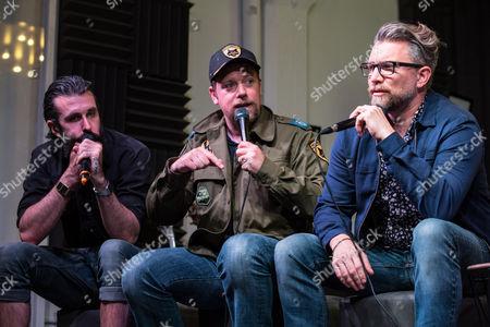 Scroobius Pip, Rufus Hound and Jamie East