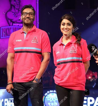 Ajay Devgan and Shriya Saran