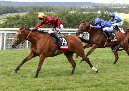 Stock Picture of Simple Verse and Harry Bently winning The Markel Insurance Fillies' Stakes Qatar Goodwood Festival 2015 Racingfotos.com-Megan Ridgwell