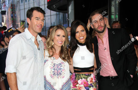 Ryan Sutter and Trista Sutter, First couple from the Bachelor and Kaitlyn Bristowe and fiance Shawn Booth from this year's bachelorette final