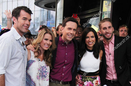 Ryan Sutter and Trista Sutter, First couple from the Bachelor, Ed Helms star of Vacation and Kaitlyn Bristowe and fiance Shawn Booth from this year's bachelorette final