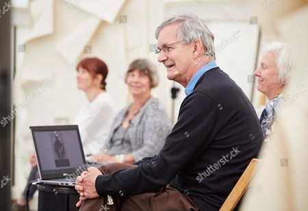 Stock Picture of Emma Chetcuti, Margaret Drabble, David Chandler, Susie Parr and Martin Parr, at the Bowling Green