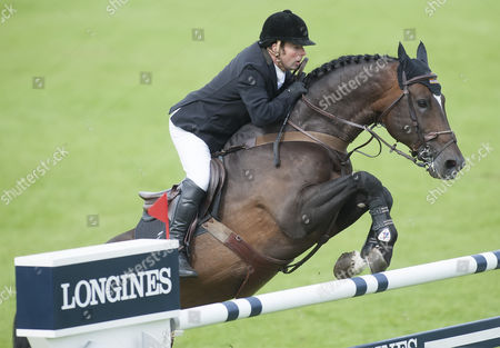 Robert Whitaker [GBR] riding USA TODAY in action during the Bunn Leisure salverThe Longines Royal International Horse show, 1st August 2015, Hickstead, West Sussex, Britain