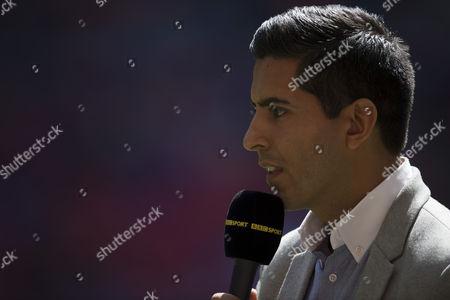 BBC Sport presenter Manish Bhasin during the FA Community Shield played at Wembley Stadium
