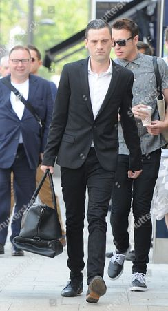 Editorial photo of Gareth Varey Tulisa Contostavlos's Manager Arrives At Stratford Magistrate Court Where He Was Cleared Of Threatening Behaviour Towards Celebrity Blogger Savvas Morgan At The V Festival In Chelmsford 2013.