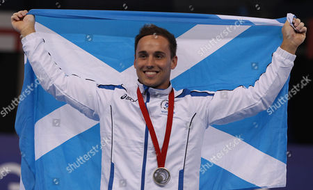 Editorial photo of Men's All-around Gymnastics. Silver Medal Winner From Scotland Dan Keatings. At The Cwg In Glasgow. July 30th 2014 - Glasgow Uk - Commonwealth Games - Picture By Ian Hodgson/daily Mail.